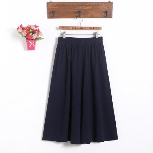 Модные женские короткие юбки для беременных; юбка с поясом; юбка для беременных; большие размеры; юбка-брюки; Одежда для беременных - Цвет: Navy