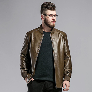 High Quality Men's Motorcycle Jacket Spring and Autumn New Leather Jacket Youthful Casual Motorcycle Jacket Large Size 2XL-7XL