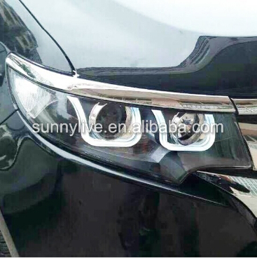 Year For Ford Edge Led Head Lights U Style Angel Eyes With K