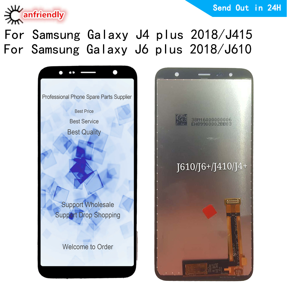 LCD <font><b>Display</b></font> For <font><b>Samsung</b></font> <font><b>J4</b></font> Plus LCD <font><b>J4</b></font> Plus J415 J415F LCD For <font><b>Samsung</b></font> J610 J6 Plus J610FN LCD Screen Touch Digitizer Assembly image