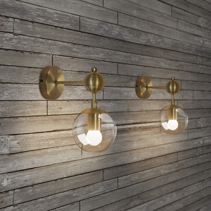 Gold modo wall lamp modern wall sconce modo wall light glass shade gold modo wall lamp modern wall sconce modo wall light glass shade lighting iron wall lights 1 globe 2 globes golden color in wall lamps from lights mozeypictures Image collections