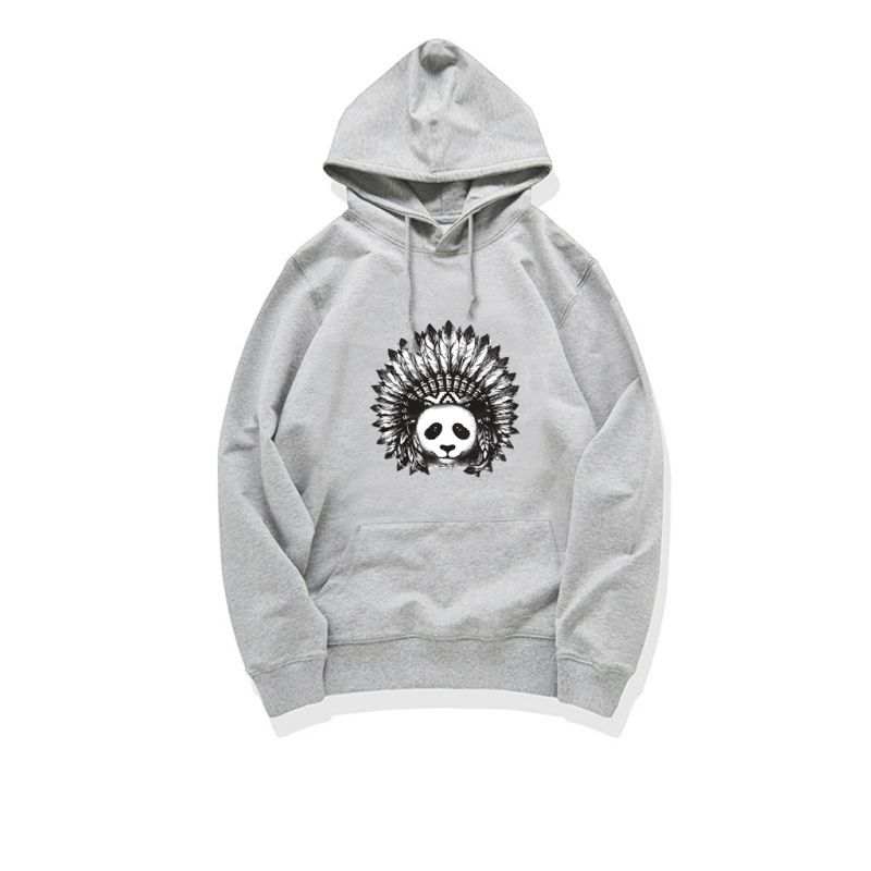 VVTS Hoodies Men/Women Unisex Casual Panda Printed Lightweight Cotton Sweatshirt Plus Size Long Sleeves Pullover Hoody S 4XL