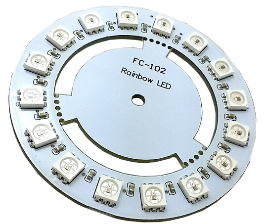 16 Bit WS2812 5050 RGB LED Module Built-in Full-color Drive Board FC-102