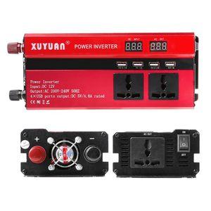 Image 5 - 4000W güneş güç inverteri sinüs dalgası LED 4 USB DC12/24V AC110V/220V dönüştürmek