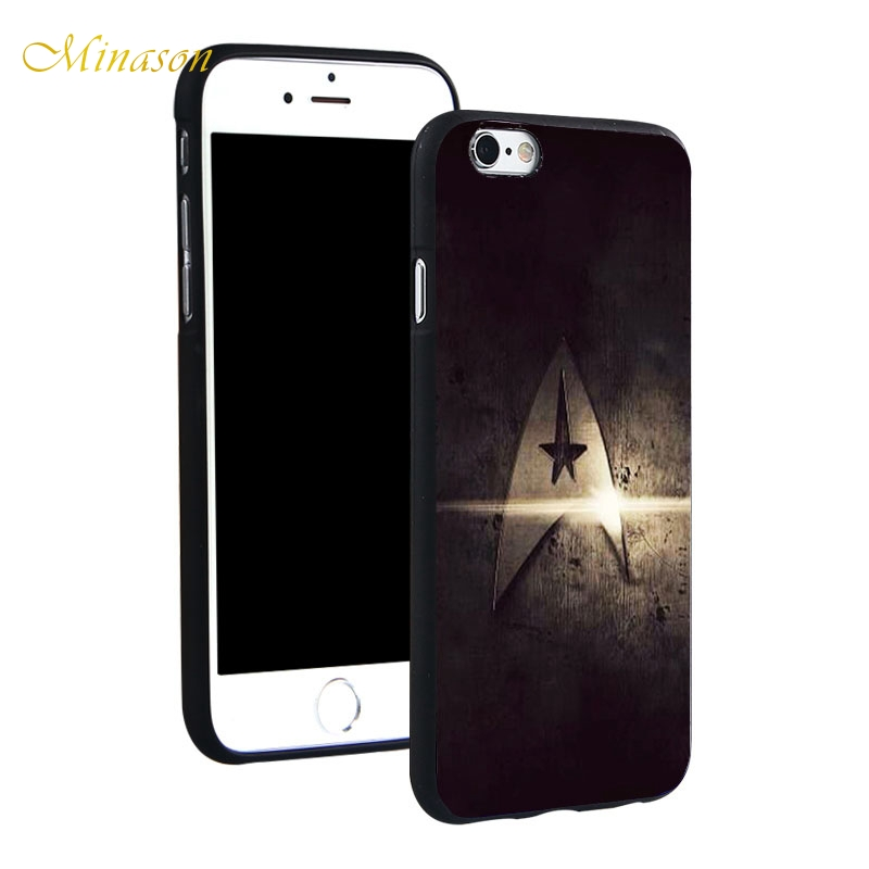 huge selection of 5d8dc 24df4 US $4.59 |Minason Star Trek Soft TPU Silicone Phone Case Cover for iPhone X  8 5 SE 5S 6 6S 7 Plus 7plus 8plus-in Half-wrapped Case from Cellphones & ...