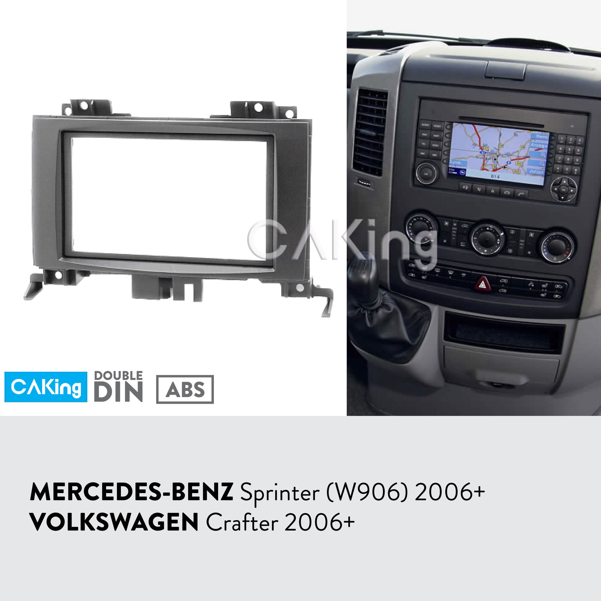 Car Fascia Radio Panel for MERCEDES BENZ Sprinter W906 2006 VW Crafter 2006 2016 Dash Kit