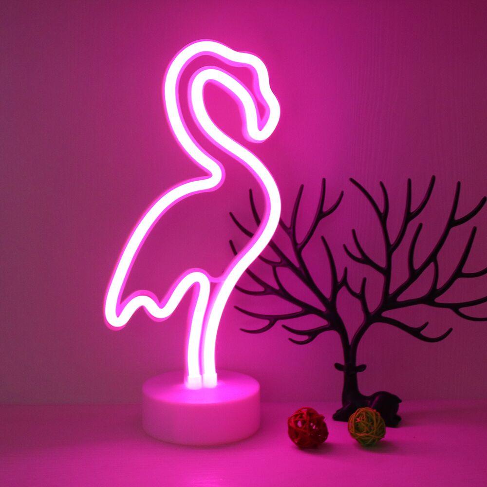 TONGER Neon Sculpture Glass Tube Flamingo Neon Lamp Neon Gas Light ...