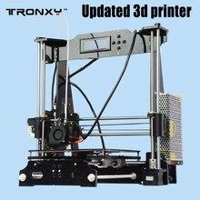 Tronxy Calidad Mejorada de Alta Precisión Reprap impresora 3D Prusa i3 DIY kit P802E E3DV5 extrusora enfundado de nivelación Automática