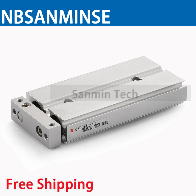Free Shipping CXSJM Dual Rod Cylinder Compact Type Pneumatic Compressed Air Parts Type SMC Type Air Cylinder Sanmin cy1s 10mm bore air slide type cylinder pneumatic magnetically smc type compress air parts coupled rodless cylinder parts sanmin