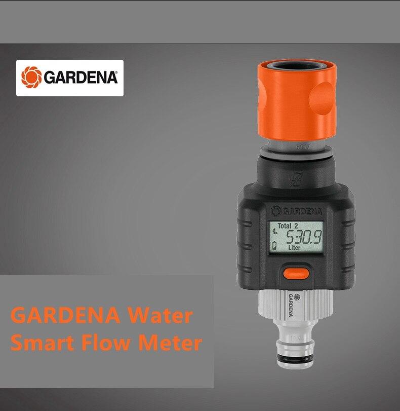 Die innovative GARDENA Wasser Smart Durchflussmesser ermöglicht gezielte bewässerung, dass ist gemessen und darauf achten.