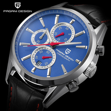PAGANI DESIGN Men Watch Fashion Blue Dial Chronograph Quartz Sport Business Watches Waterproof Clock Relojes Hombre