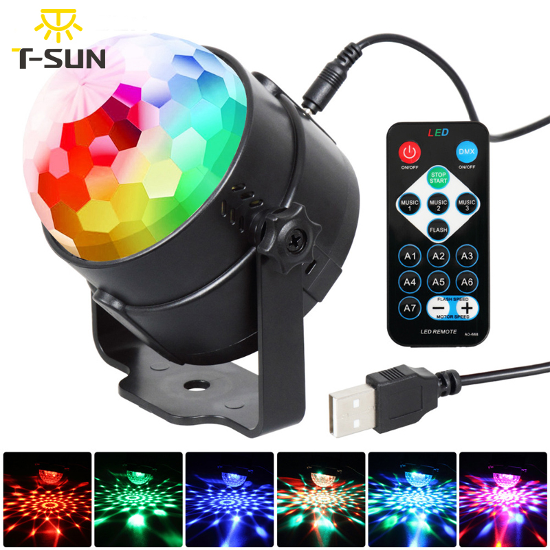 T-SUNRISE 3W DJ Disco Ball Stage Light RGB Stage Lighting Effect Laser Party Light LED Light Stage Projector For Party Discolamp