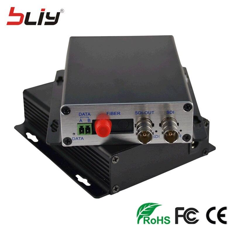 HD SDI Unidirectional Fiber Optic Transmitter/Receiver 1 Pair 2 Pieces/lot Fiber Optic Video optical converter 1 channel 1V1D