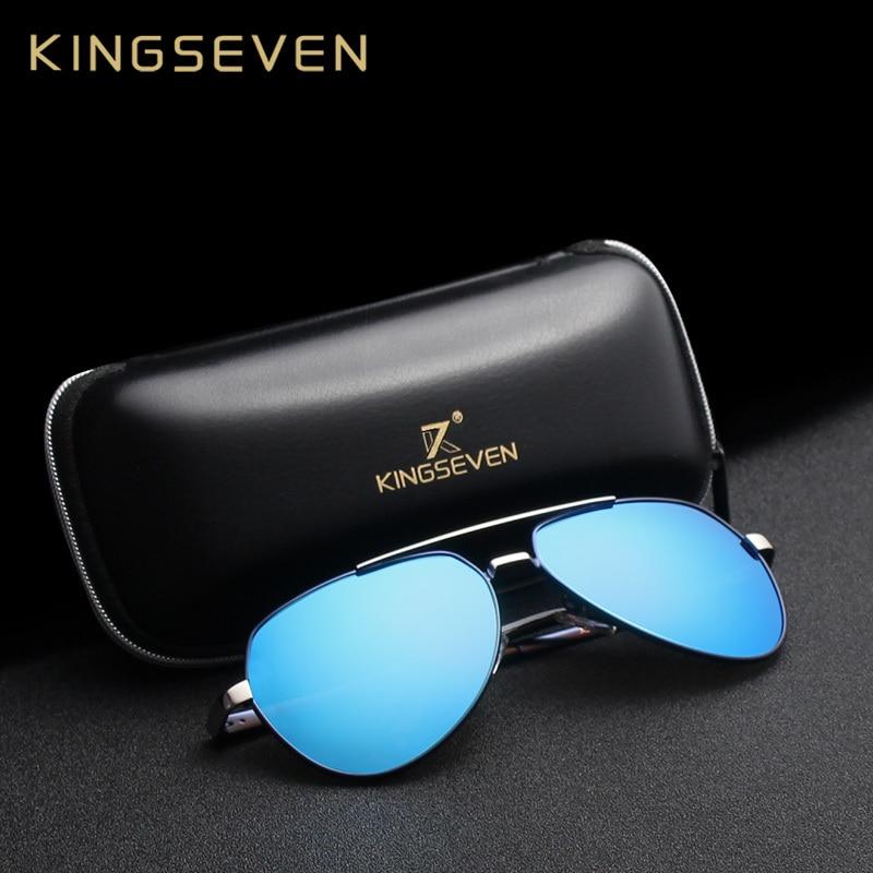 Kingseven Men's Sunglasses Brand Designer Pilot Polarized Ma