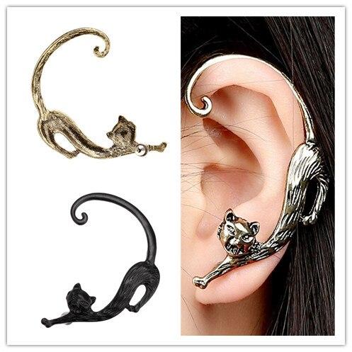 1 Stück Gothic Punk Niedlichen Tier Katze Ohr Manschette Wrap Clip Auf Ohrringe Wollüstigen Kätzchen Ohrbügel Ohrringe Ohr Clips Schmuck