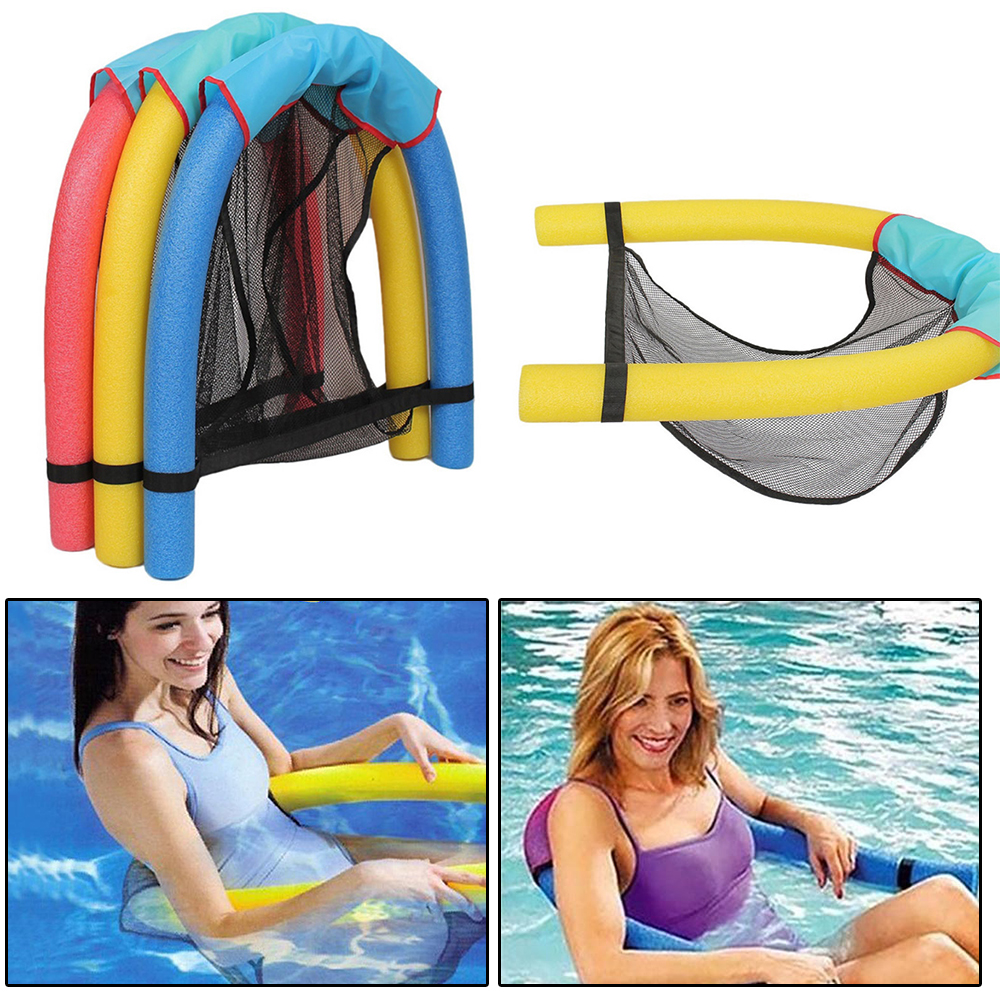 Swimming Pool Seats Floating Chair Pool Floating Bed Chair Pool Noodle Sling Mesh Water Portable Ergonomic