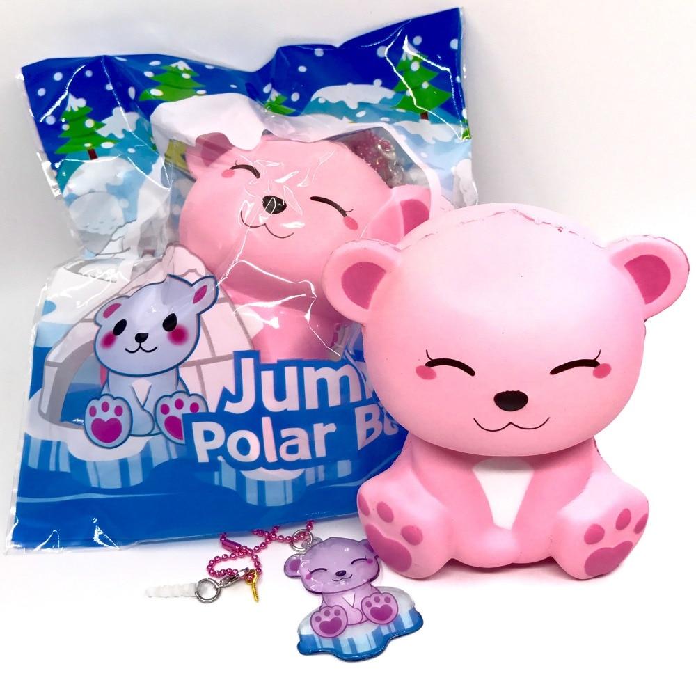 Puni maru Jumbo Polar bear Squishy Slow Rising Soft Kawaii Squishies Kid Toys Gift jumbo squishy cute glasses bear scented charm super slow rising squeeze toy