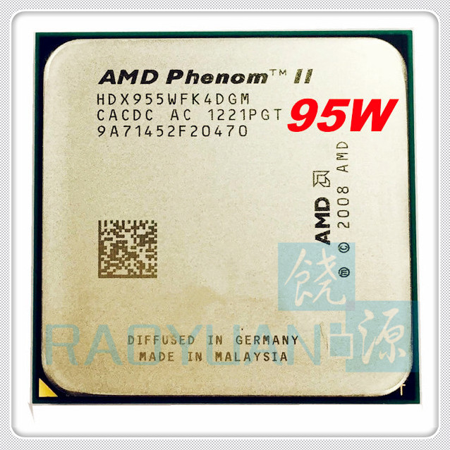 AMD Phenom II X4 955 X4-955 3.2Ghz 95W Quad-Core DeskTop CPU HDX955WFK4DGM Socket AM3 938pin