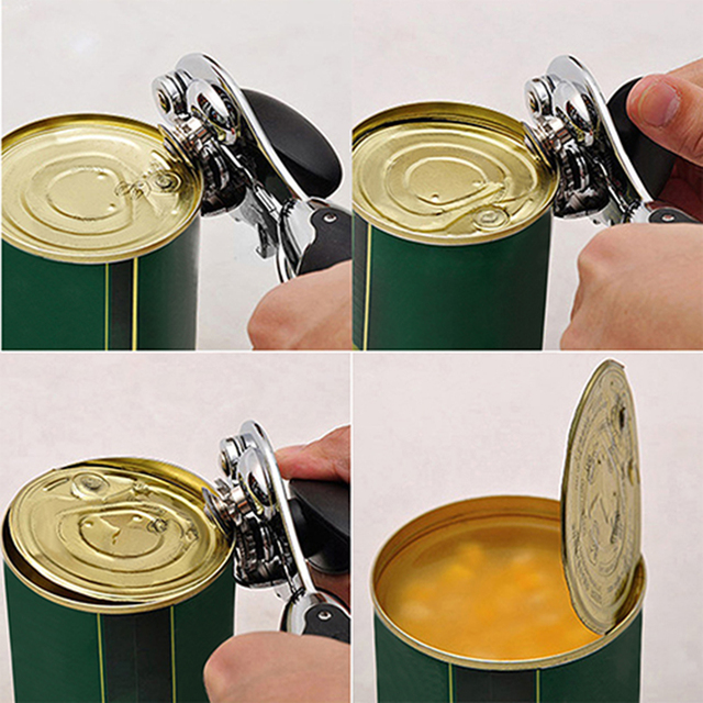 High quality Heavy Duty Stainless Steel Professional Tin Can Opener Kitchen Craft Easy Grip