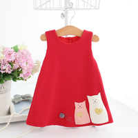 Newest Infant Baby Girl Birthday Party Dresses Christening Easter Cartoon Toddler Princess Flower Dress For 0