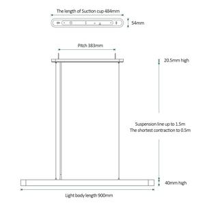 Image 5 - 2019 Xiaomi Mijia Yeelight מטאוריט חכם LED ארוחת ערב תליון אורות חכם מסעדת נברשת לעבוד עם Mi בית APP