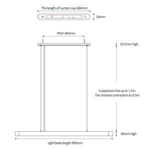 Image 5 - 2019 Xiaomi Norma Mijia Yeelight Meteorite Intelligente HA CONDOTTO LA Cena Luci Del Pendente Smart Ristorante Lampadario di Lavoro con Mi Casa APP