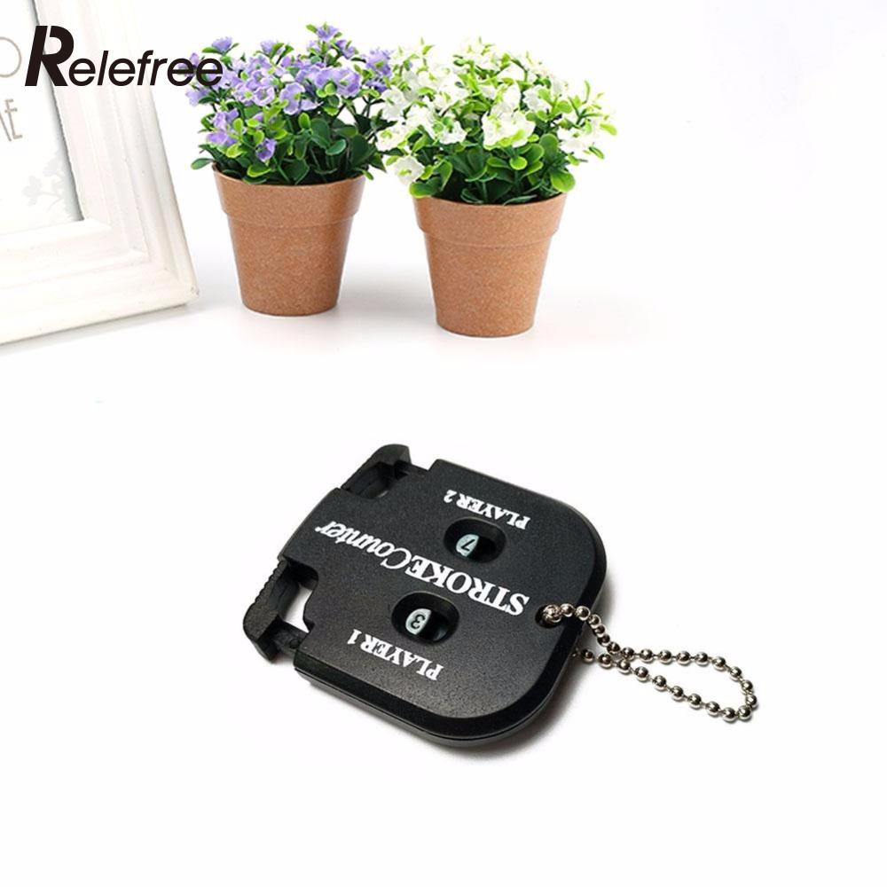 Golf Count Stroke Score Counter Keeper Golfing with Key Chain Black Golf Score Counter