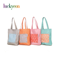 Cartoon Animal Nylon Shopping Bag Foldable Reusable Tote Storage Bag Women Large Should Bag Waterproof Grocery