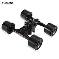 PUENTE 2pcs / Set Skateboard Truck with Skate Wheel Riser ABEC - 9 Bearing Hardware Accessory Installing Tool for Skateboard