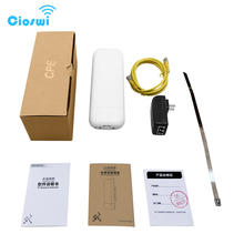 2km QCA9344 wifi bereich outdoor wireless access point cpe 5ghz mit POE power adapter 300mbps high power cpe netzwerk router