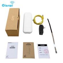 Point daccès sans fil extérieur de gamme de wifi de 2km QCA9344 cpe 5ghz avec ladaptateur de puissance de POE 300mbps routeur de réseau de cpe de puissance élevée