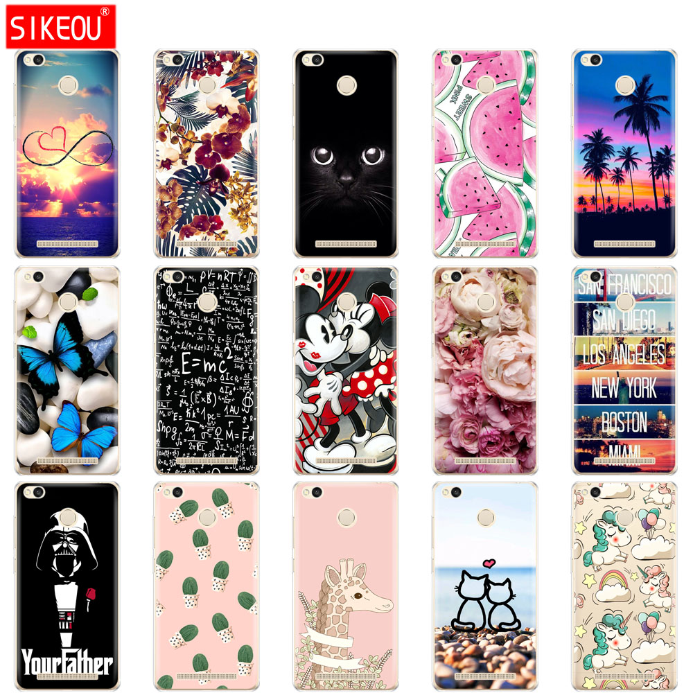 Phone-Case Butterfly Xiaomi Redmi Silicone For 3-Pro New 3S