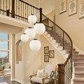 Moderne Weiß Glaskugel Anhänger Licht Mall Schlafzimmer Milch Ball Runde Globale Suspension Licht Industrielle LED leuchten-in Pendelleuchten aus Licht & Beleuchtung bei