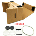 New Store Big Discount DIY Google Cardboard VR Virtual Reality box 3D Glasses for Mobile Phone support maximum 6.0 inch Screen