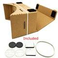 Nova loja big discount diy google papelão vr realidade virtual caixa de Óculos 3D para o Telefone Móvel suportar um máximo de 6.0 polegada tela