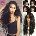 Japanese Heat Resistant Synthetic Wigs Long Curly Synthetic Lace Front Wigs With Baby Hair Fashion Black Full Lace Synthetic Wig