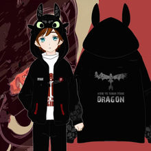 Womens Clothing Accessories - Costumes  -  How To Train Your Dragon 2 Anime Toothless Unisex Hooded Hoodie Cosplay Costumes