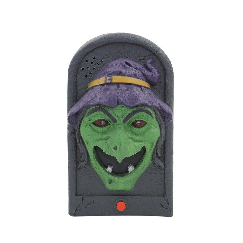 Geluiden Halloween.Us 10 87 Batterij Aangedreven Spooky Geanimeerde Ogen Licht Up Geluiden Chime Heks Deurbel Halloween Party Props Gejaagd Tuin Decoraties In