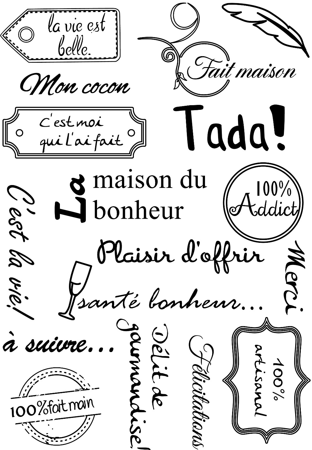 French words  Transparent Clear Silicone Stamps for DIY Scrapbooking/Card Making/Kids Christmas Fun Decoration Supplies A1009|Stamps|   - AliExpress