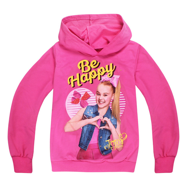 4de1cbc21da3c 2018 New 4-12Years Cartoon JOJO SIWA Children GIRL s Clothing Fall T-shirt  Baby Kids HOODIE Girls Sweatshirts Big Child Clothes