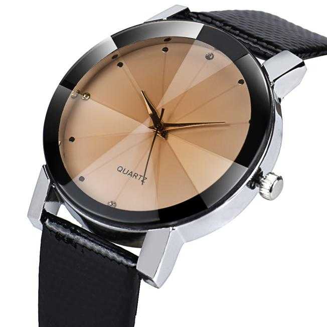 Luxury Quartz Sport Military Stainless Steel Dial Leather Band Wrist Watch Casual Watch Womens