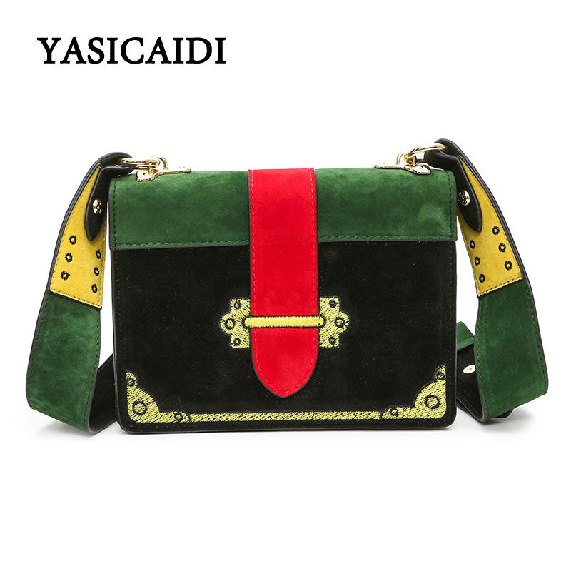 Vintage Embroidery Women Crossbody Bags Patchwork Pu Leather Women Messenger Bags Ladies Luxury Brand Shoulder Bag For Women sac
