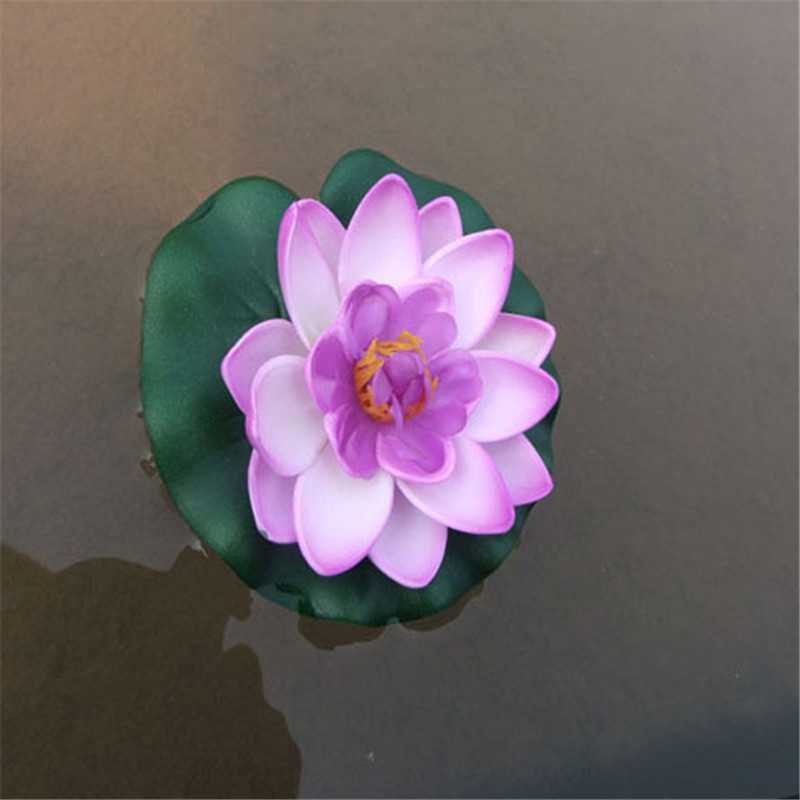 1Pc Lifelike 10 CM Floating Lotus Aquarium Fish Tank Water Lotus Artificial Flowers Swim Pool Home Pond Ornament