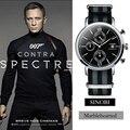 Sinobi charming men sport watch militar relógios de mergulho homens relógios james bond 007 homens relógio de quartzo relógio de pulso relogio masculino
