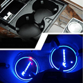 2 pieces/lot LED RDESIGN Cup Coaster Slot Pad R Design Mat Protective Pad PVC for Volvo XC60 S60 V60  car styling 2017 design