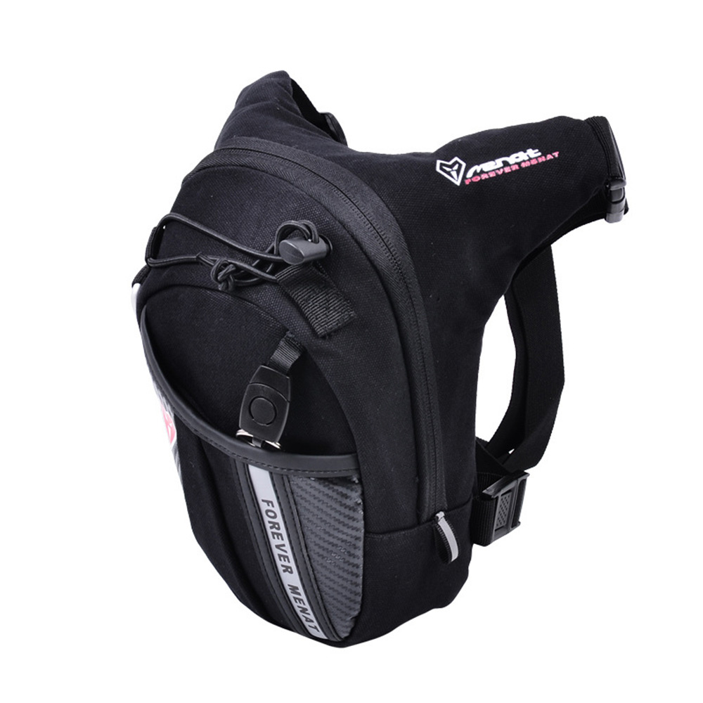 Motorcycle Bag Thigh Leg Drop Waterproof Motorbike Waist Moto Tank Bag Black