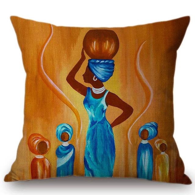 2018 Della Decorazione di Arte Pittura A Olio Africana Divano Coperte e Plaid Co
