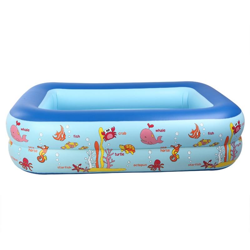 Piscina inflable bebé Piscina portátil al aire libre recipiente para niños bañera niños Piscina bebé Piscina cuadrada Shpe 1