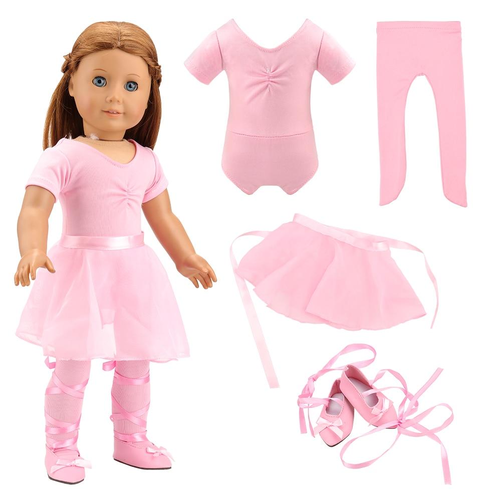 Neue Mode Billig Ballett Kleid Unsere Generation Puppe Kleidung 43 cm Für 18 zoll Baby Puppen Dressing spiel DIY Geburtstag präsentieren Spielzeug