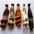 1PCS/LOT Retail New Arrival 25CM Synthetic Doll Hair DIY Brown Blond Curly BJD Wig Hair